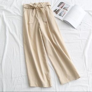 Pants - Japanese style beige pants - BROUGHT IN JAPAN.